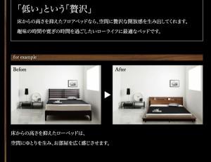 シングルベッド シングル マットレス付き プレミアムポケットコイル モダンライト・コンセント付きローベッド