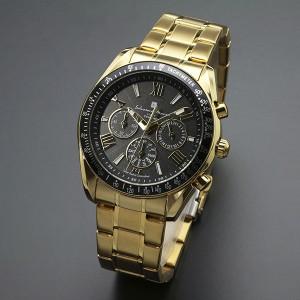 719d46932a952d 取寄品 正規品Salvatore Marra腕時計サルバトーレマーラ SM15116-GDBKGD 電波ソーラー クロノ