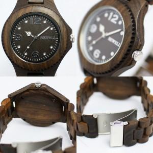 木製腕時計天然素材 木製腕時計 軽い 軽量  WDW002-02 メンズ腕時計 送料無料