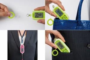 歩数計 防犯ブザー付き 大音量 タニタ 3Dセンサー搭載 グレー 女性におすすめ