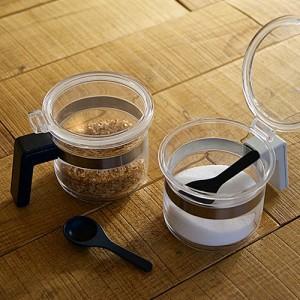 シュガーポット ソルトポット 砂糖 塩容器 パウダーポット biite ビッテ 調味料 透明 クリアー