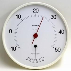 """""""温度計 湿度計 温湿度計 アナログ 大型 大きい 見やすい 直径30cm 日本製"""""""