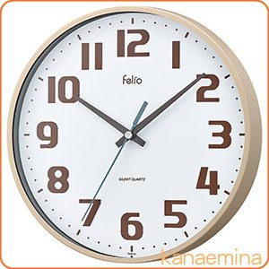 壁掛け時計 アナログ ウォールクロック チュロス アイボリー 北欧 おしゃれ かわいい