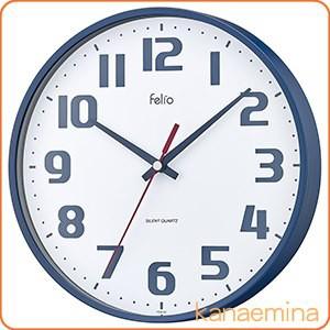 壁掛け時計 アナログ ウォールクロック チュロス ネイビーブルー 北欧 おしゃれ かわいい