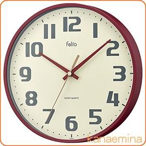 壁掛け時計 アナログ ウォールクロック チュロス レッド 北欧 おしゃれ かわいい