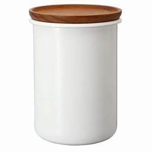 ティー コーヒーキャニスター 琺瑯製容器 ほうろう ホーロー 200g ボナ ハリオ