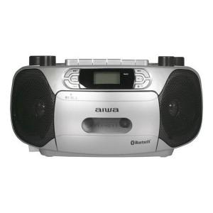 CDラジカセ Bluetooth対応 aiwa ラジオ CD カセット再生録音 カラオケガイド機能 AC100V 乾電池両用