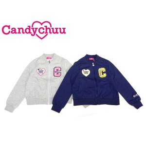 3000463c8c386 Candychuu キャンディチュウ キャンディチュー 子供服 19春夏 ワッペン付きミニ裏毛ブルゾン