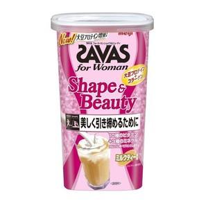 SAVAS (ザバス) ビューティー フィットネス ダイエット ザバス フォーウーマン シェイプ&ビューティミルクティー風味 12食分[配