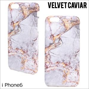 Velvet Caviar ヴェルヴェット キャビア iPhone7 6 6s ケース スマホ GREY & GOLD MARBLE IPHONE CASE レディース