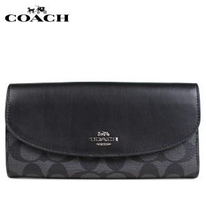 eb504d9b9d39 コーチ COACH 財布 長財布 レディース 二つ折り シグネチャー ブラック F54022