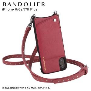1a1be16532 BANDOLIER バンドリヤー iPhone8Plus iPhone7Plus 6sPlus ケース ショルダー スマホ アイフォン レザー  NICOLE MAGENTA RED メンズ レデ