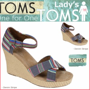 faf59119d77 TOMS レディース トムス シューズ サンダル toms shoes トムズ WOMEN S STRAPPY WEDGES トムズシューズ