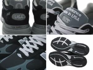 ニューバランス 993 メンズ new balance スニーカー MR993BK Dワイズ MADE IN USA ブラック [予約商品 9/25頃入荷予定 追加入荷]