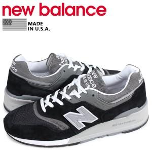 b0f4ec6db02bf ニューバランス new balance 997 スニーカー メンズ Dワイズ MADE IN USA ブラック 黒 M997BK の画像