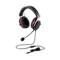 エレコム ELECOM HS-G40BK ゲーミングヘッドセット/HSG40/オーバーヘッド/ブラック HSG40BK