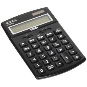 オーロラ [DT206TXB] 電卓 卓上タイプ【中型】