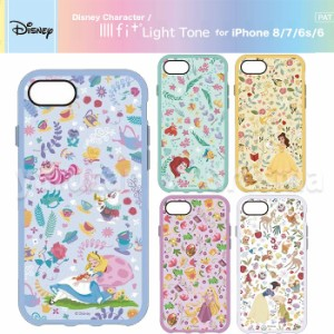 e8f374d1a9 iPhone8/7/6s/6 ケース カバー ハイブリッド IIIIfit Light Tone ディズニーキャラクター Disney