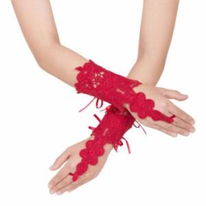 34d61bf56382 Magical Doll Premium レースグローブ Chloe red レース グローブ 手袋 セクシー ファッション クリアストーン  4560320856603