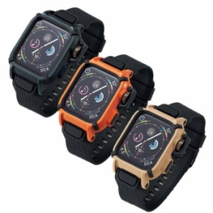 aafd0ab437 Apple Watch series4 アップルウォッチ シリーズ4 44mm バンドケース NESTOUTシリーズ バンド ケース 耐衝撃