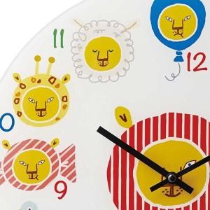 掛け時計 子供 おしゃれ イラスト 絵 カフェ風 子供部屋 北欧 デザイン