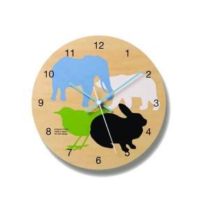 壁掛け時計 かわいい インテリア 動物 ナチュラル 雑貨 ウォールクロック DOUBUTSU PC07-05 all レムノス