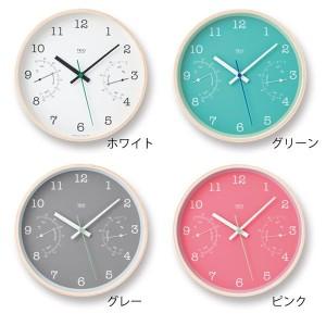 掛け時計 スイープムーブメント 温度計 湿度計 おしゃれ かわいい プレゼント 雑貨 カフェ トゥリオ TRiO PC10-22