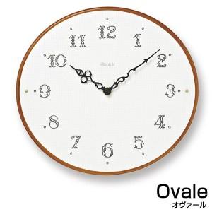 掛け時計 おしゃれ 木製 かわいい 北欧 PC11-23 Ovale ナチュラル/ブラウン