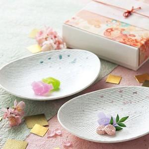 食器セット ペア 食器 結婚祝い 和食器 皿 おしゃれ かわいい 器 お祝い ギフト プレゼント 28407 きらめき 組皿
