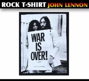 ロックTシャツ ジョンレノン John Lennon WAR IS OVER! The Beatles ビートルズ バンドTシャツ メンズ レディース パンク
