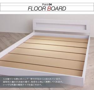 ベッド シングル ローベッド フロアベッド LEDライト Tessera テセラ Sポケットマットレス付き シングルサイズ