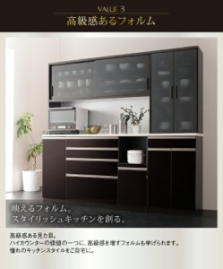 開梱設置付 ダストボックス収納付きハイカウンターキッチンボード Pranzo プランゾ 食器棚 W60