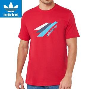 adidas アディダス正規品オリジナルス半袖TEEシャツOriginals Palmerston T-Shirt In Red