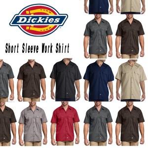 DICKIESディッキーズ正規品ワークシャツ作業着 半袖シャツ1574ショートスリーブワークシャツ