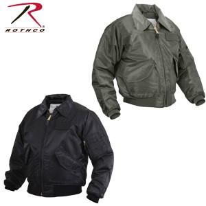 Rothco ロスコ正規品メンズミリタリージャケットフライトジャケット黒グリーンCWU-45P 大きいサイズアウター