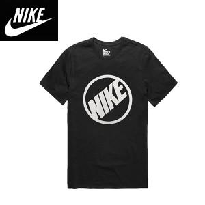NIKEナイキ正規品メンズ半袖TEEシャツ黒ブラックフィットネス ナイキロゴプリント