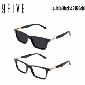 サングラス 9FIVE LA JOLLA BLACK&GOLD(Wide) ナインファイブ スケート 眼鏡 メガネ
