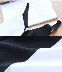 キャミソール ニット カットソー レディース リブ 縫い目なし バイカラー 薄手 夏 夏物 タンクトップ 前後Vネック 韓国ファッション