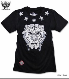 Tシャツ メンズ トップス 豪華 刺繍 大迫力 センス抜群 ブランドアイコン MINUTEMIRTH ライオン フェイス