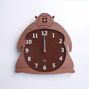 ヤマト工芸 CLOCK ZOO ゴリラ YK14-003 壁掛け時計 アニマル動物 子供部屋 シンプル モダン おしゃれ かわいい 掛け時計 掛時計 ウォール