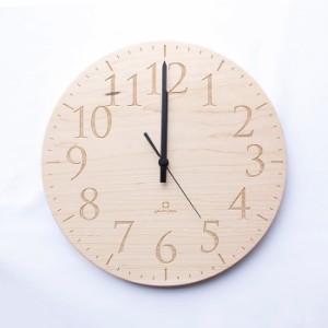ヤマト工芸 MUKU エン メープル YK15-102 壁掛け時計 シンプル モダン おしゃれ かわいい 掛け時計 掛時計 ウォールクロック CLOCK 時計