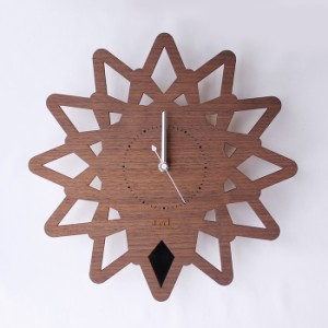 ヤマト工芸 PATTERN CLOCK S 棘 トゲ ブラック YK14-113 壁掛け時計 シンプル モダン おしゃれ かわいい 掛け時計 掛時計 ウォールクロッ