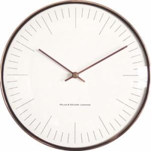 パラデック GROCIA メタルウォールクロック GRA-225 カッパー 壁掛け時計 シンプル モダン おしゃれ かわいい 掛け時計 掛時計 ウォール