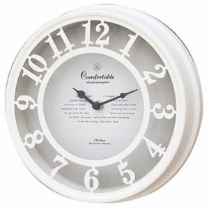 スパイス OLD STREET WALL CLOCK NHE901WH ホワイト 壁掛け時計 シンプル モダン おしゃれ かわいい 掛け時計 掛時計 ウォールクロック C