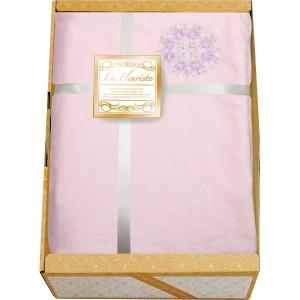 【47%OFF】ラ・フローリスト フランネル掛カバー兼毛布 <ピンク>[ギフト 引き出物 引出物 結婚内祝い 出産内祝い引越し ご挨拶 お返
