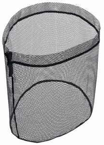 PROX スペアラバーコーティングネット(オーバル型) 35ロング/ブラック