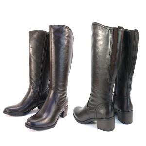 送料無料 牛革 ロングジョッキーブーツ 本皮 レザー 伸びる履き口&ふくらはぎ ゆとり設計 ベトナム製 バックゴア仕様 (3色)