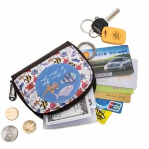 送料無料★ 財布 レディース カード入れ カードケース 小銭入れ ポーチ カード11枚収納 キーホルダー 無地 コンパクト シンプル