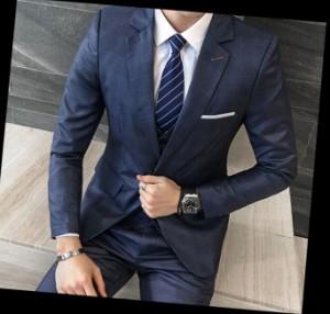 d73a7eb157881 新作 ストライプ メンズ スーツ+パンツ+ベスト ビジネスドレス 上下