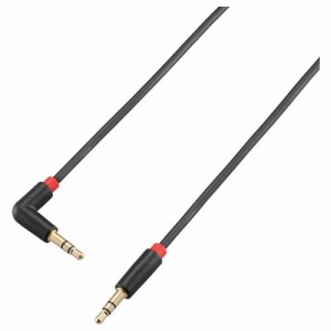 ELECOM エレコム iPhone6 iPhone6 Plus 対応  エレコム オーディオケーブル AUX接続用 3.5φ 片側L型プラグ 1.2m ブラック CAR-35L12BK